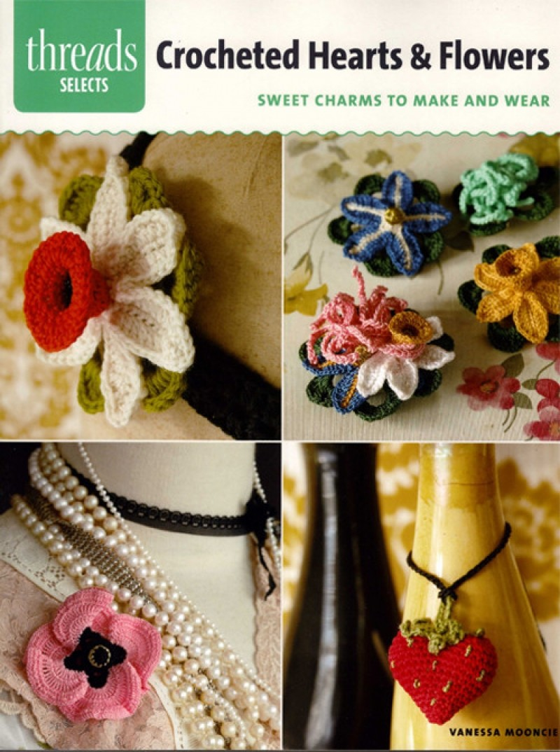 Crocheted Hearts & Flowers (6)